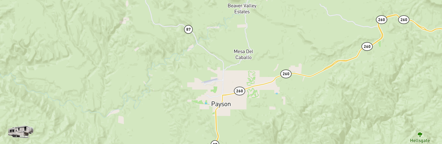 Fifth Wheel Rentals Map Payson, AZ