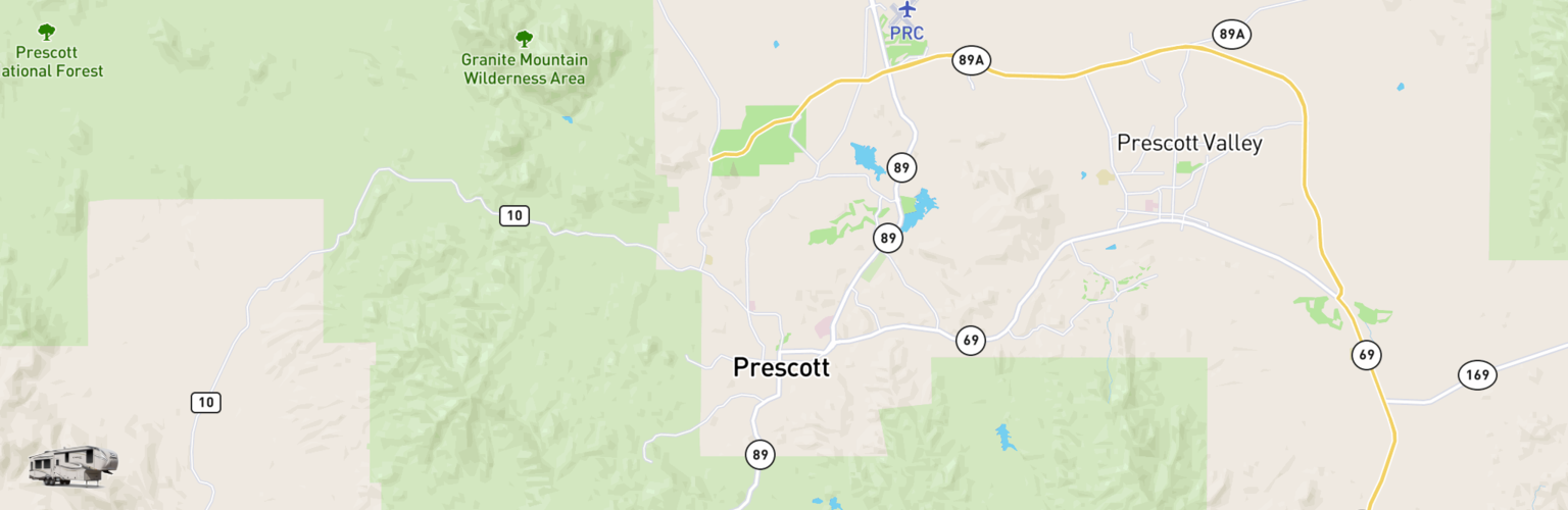 Fifth Wheel Rentals Map Prescott, AZ