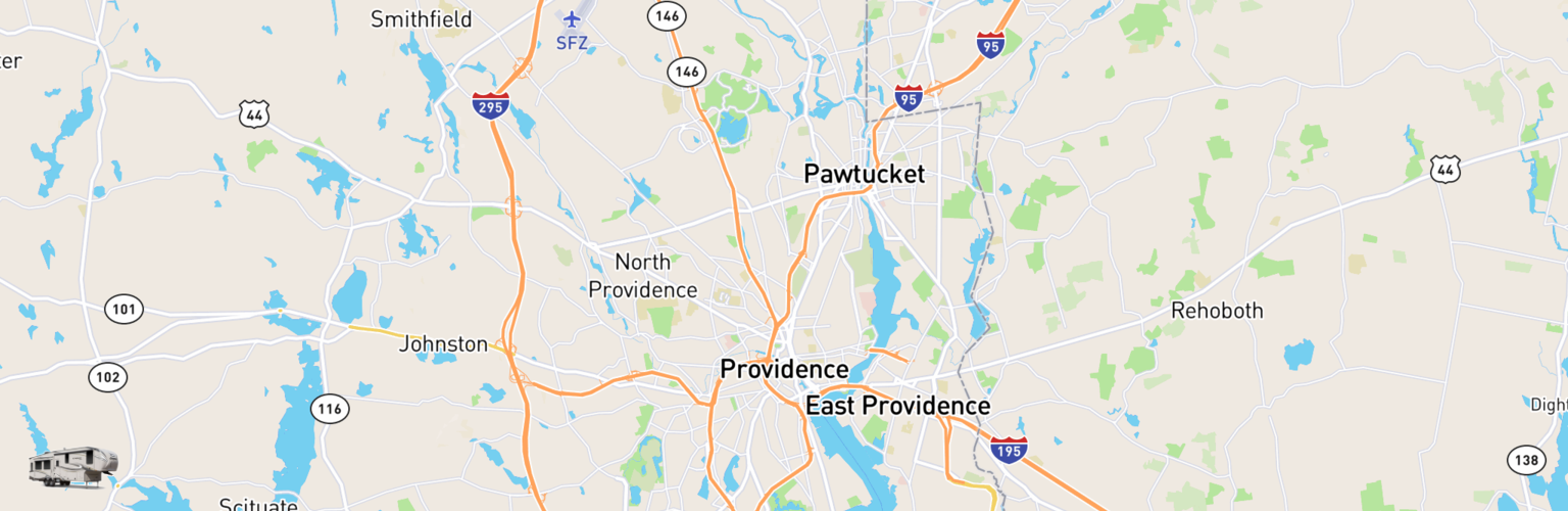 Fifth Wheel Rentals Map Providence, RI