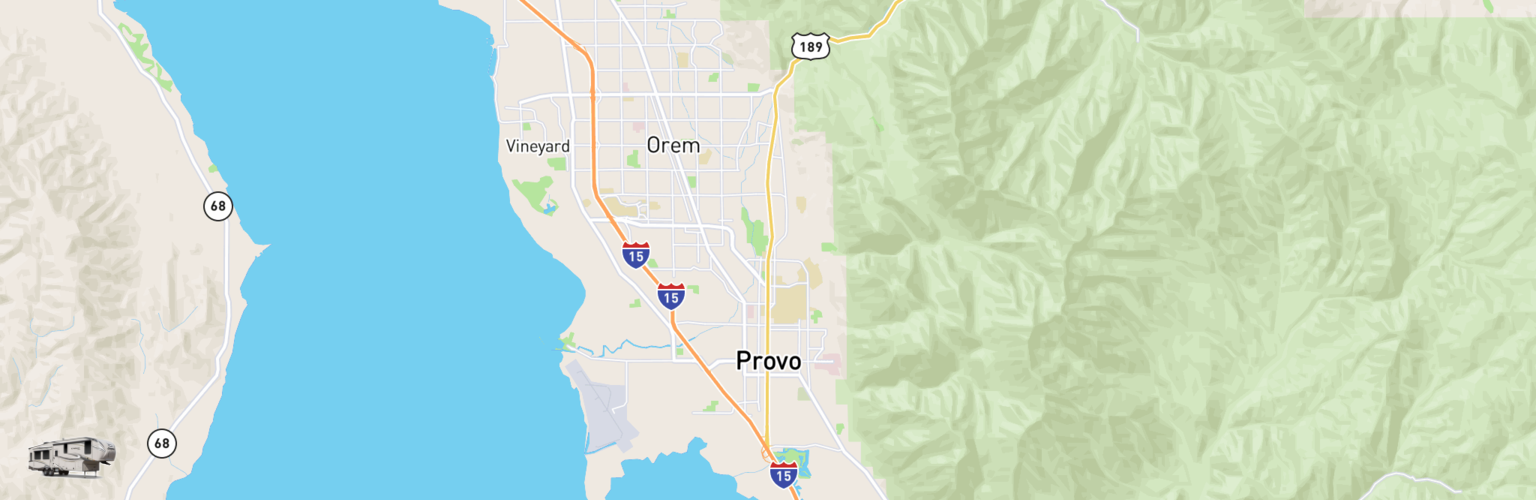 Fifth Wheel Rentals Map Provo, UT