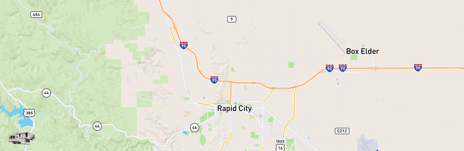 Fifth Wheel Rentals Map Rapid City, SD