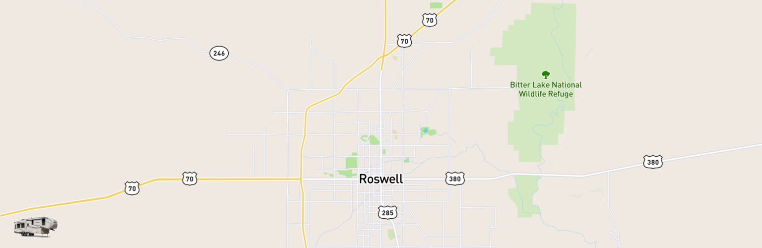 Fifth Wheel Rentals Map Roswell, NM