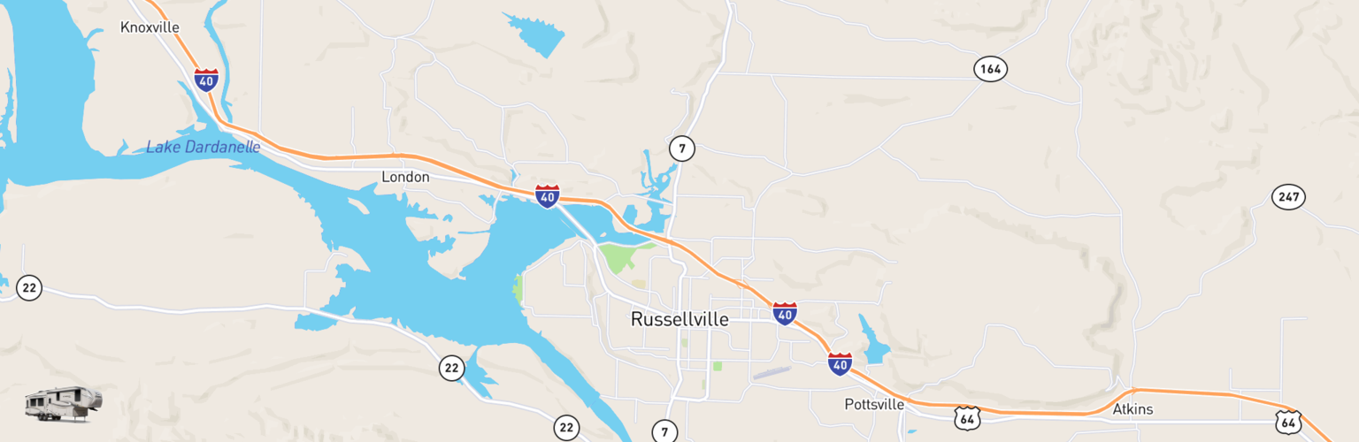 Fifth Wheel Rentals Map Russellville, AR