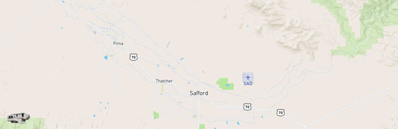 Fifth Wheel Rentals Map Safford, AZ