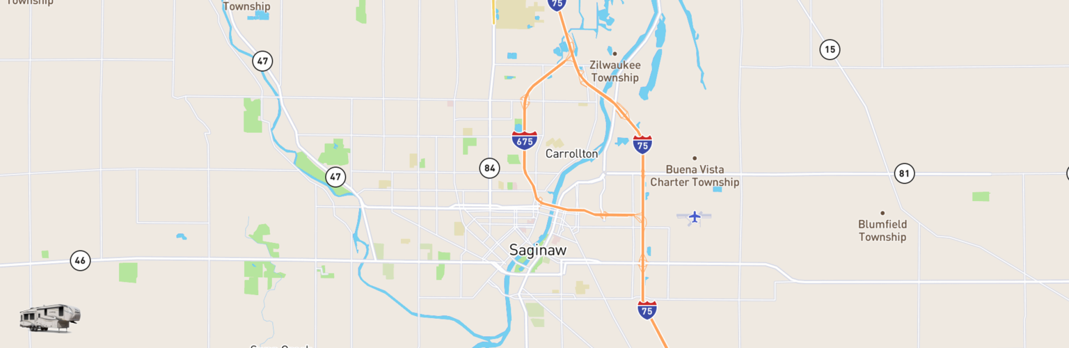 Fifth Wheel Rentals Map Saginaw, MI