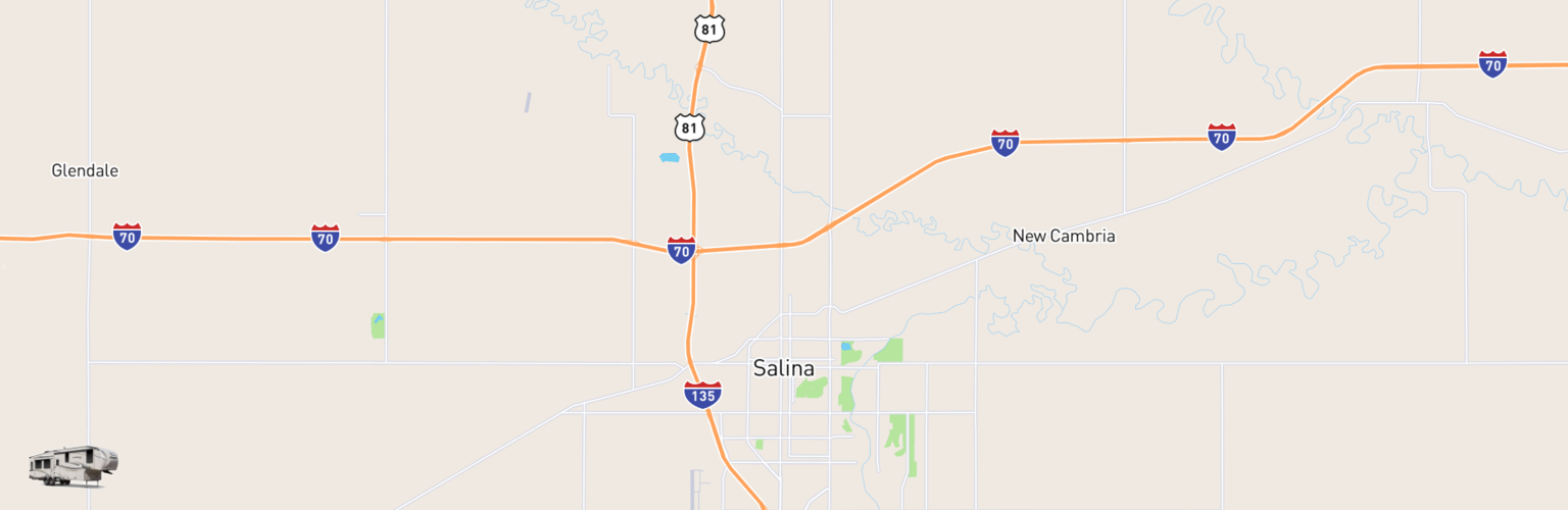 Fifth Wheel Rentals Map Salina, KS