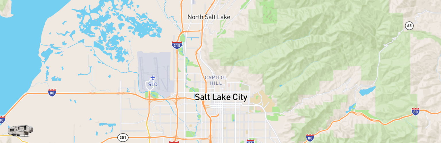 Fifth Wheel Rentals Map Salt Lake City, UT