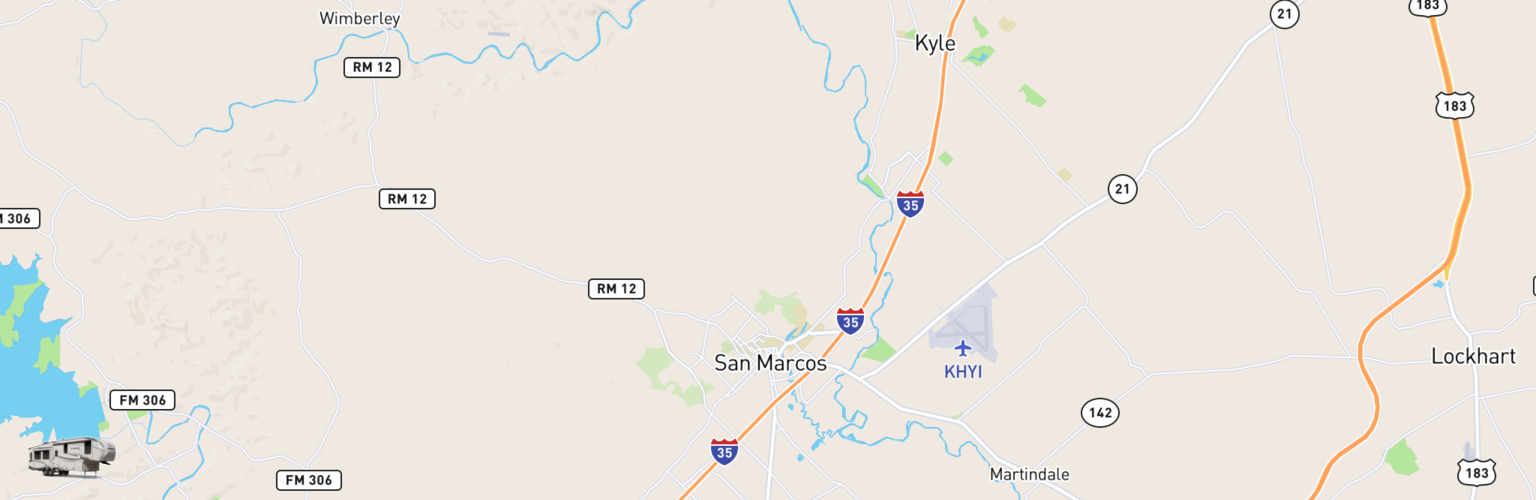 Fifth Wheel Rentals Map San Marcos, TX
