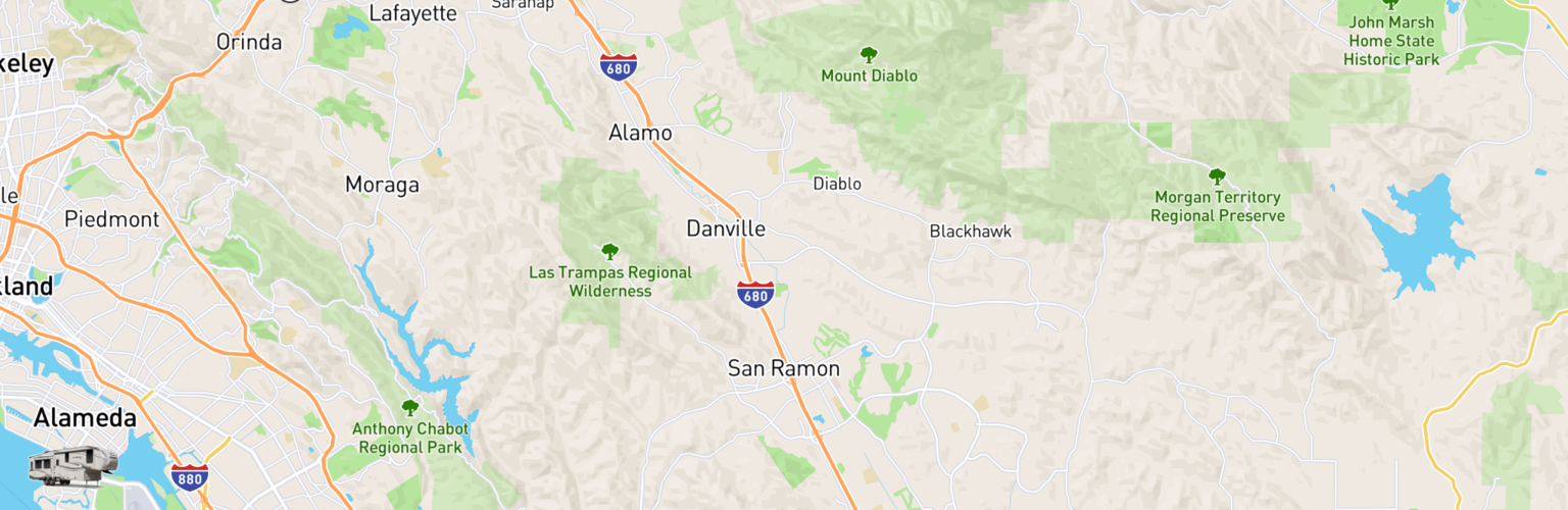 Fifth Wheel Rentals Map San Ramon, CA