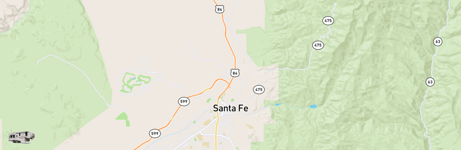 Fifth Wheel Rentals Map Santa Fe, NM