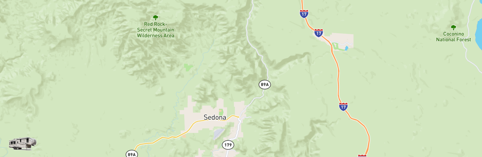 Fifth Wheel Rentals Map Sedona, AZ