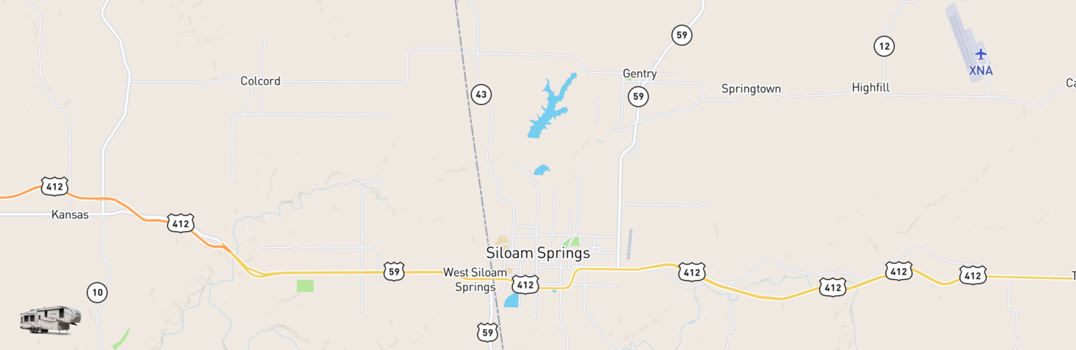 Fifth Wheel Rentals Map Siloam Springs, AR