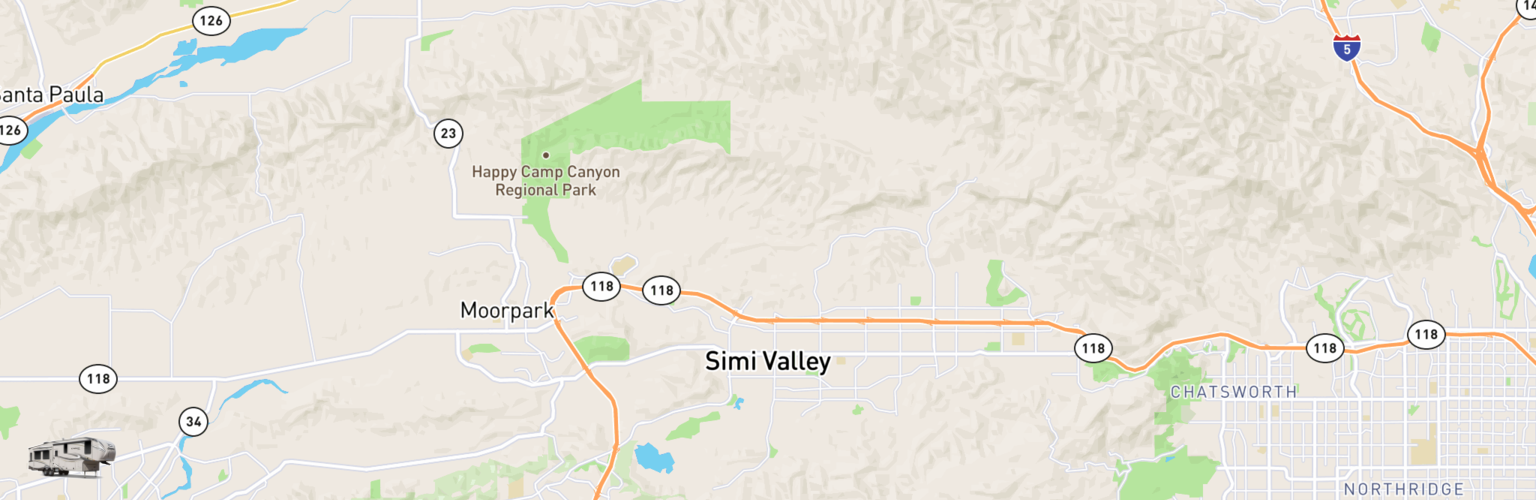 Fifth Wheel Rentals Map Simi Valley, CA