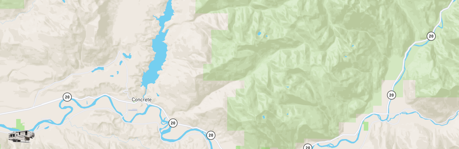 Fifth Wheel Rentals Map Skagit, WA