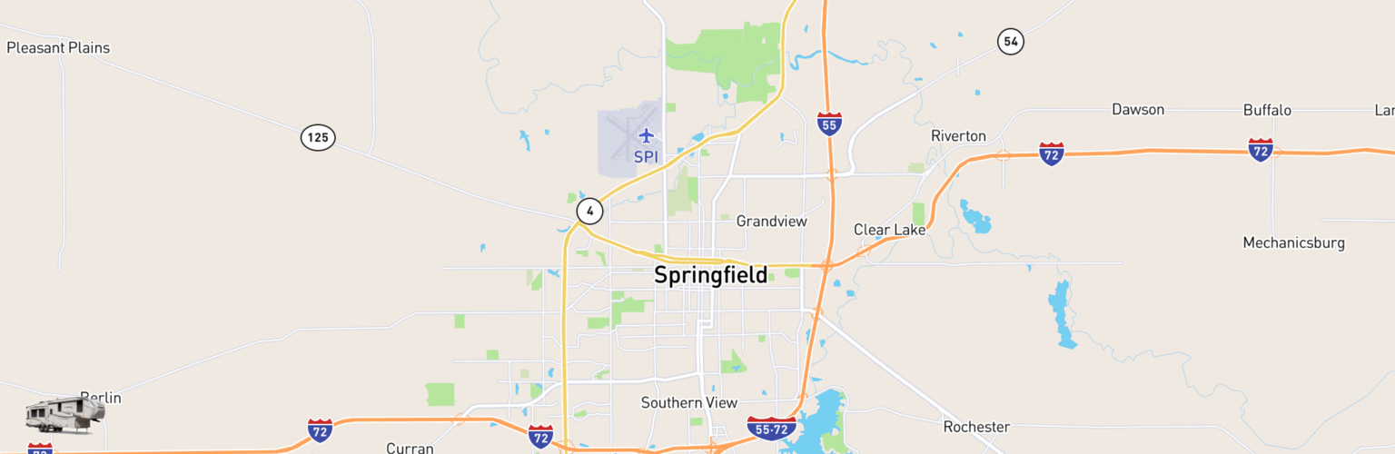 Fifth Wheel Rentals Map Springfield, IL
