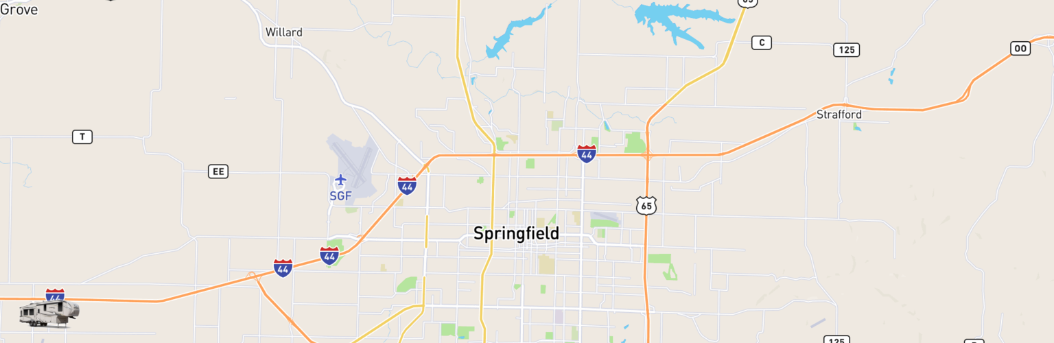 Fifth Wheel Rentals Map Springfield, MO
