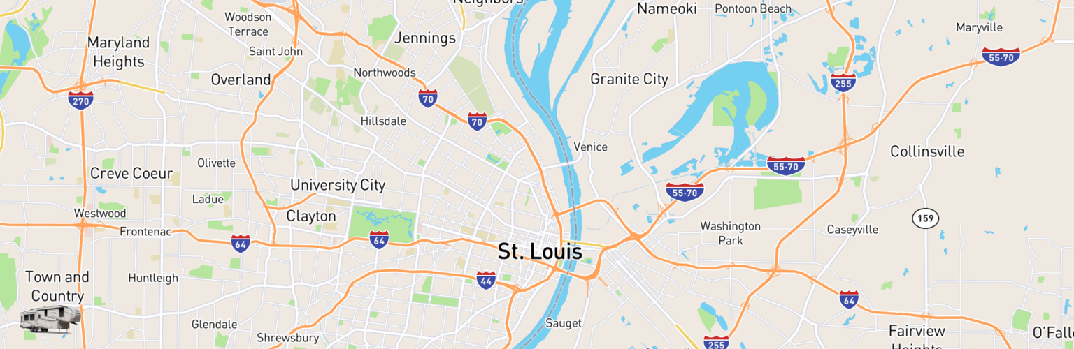 Fifth Wheel Rentals Map St Louis, MO