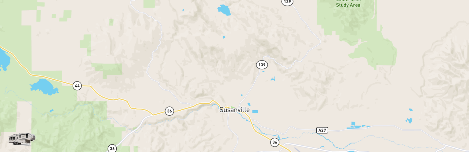 Fifth Wheel Rentals Map Susanville, CA