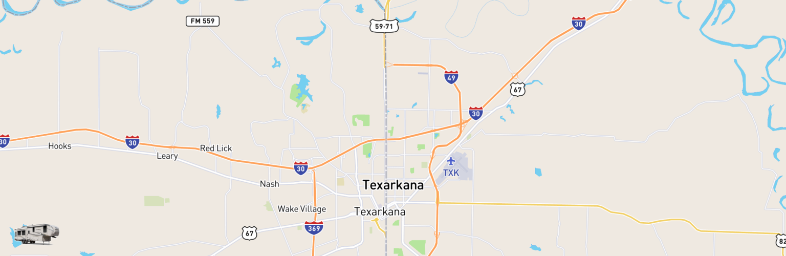 Fifth Wheel Rentals Map Texarkana, AR