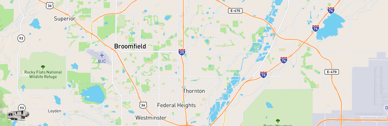 Fifth Wheel Rentals Map Thornton, CO