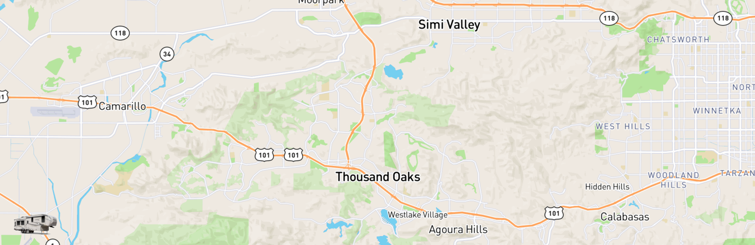 Fifth Wheel Rentals Map Thousand Oaks, CA