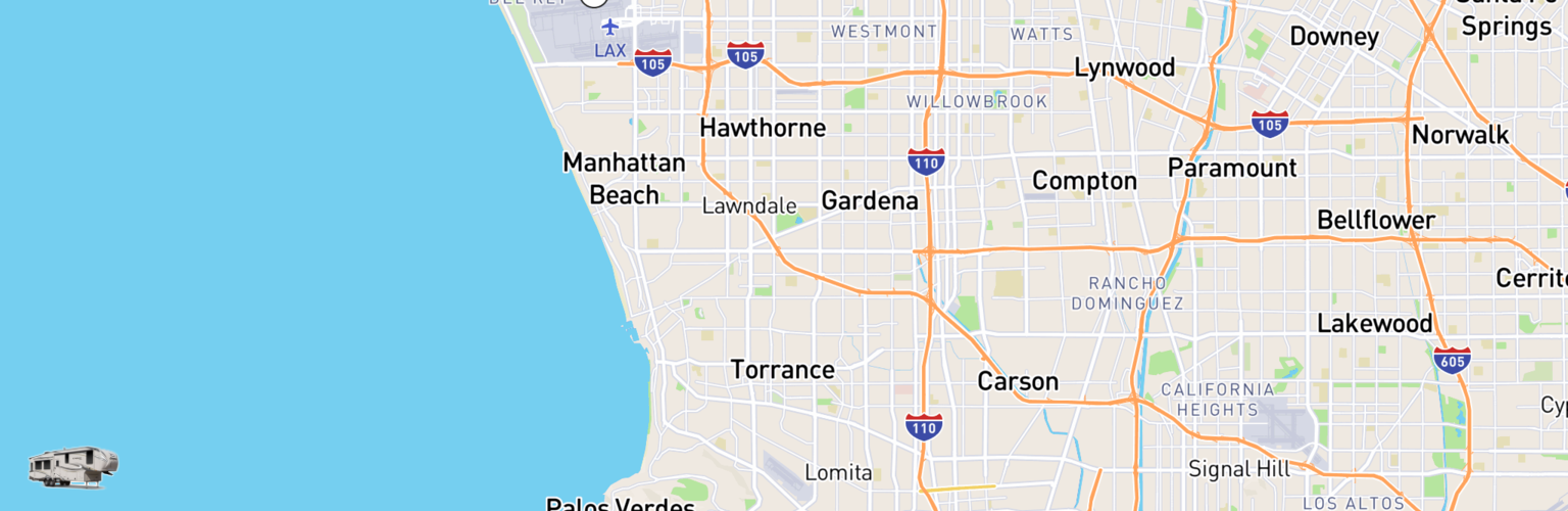 Fifth Wheel Rentals Map Torrance, CA