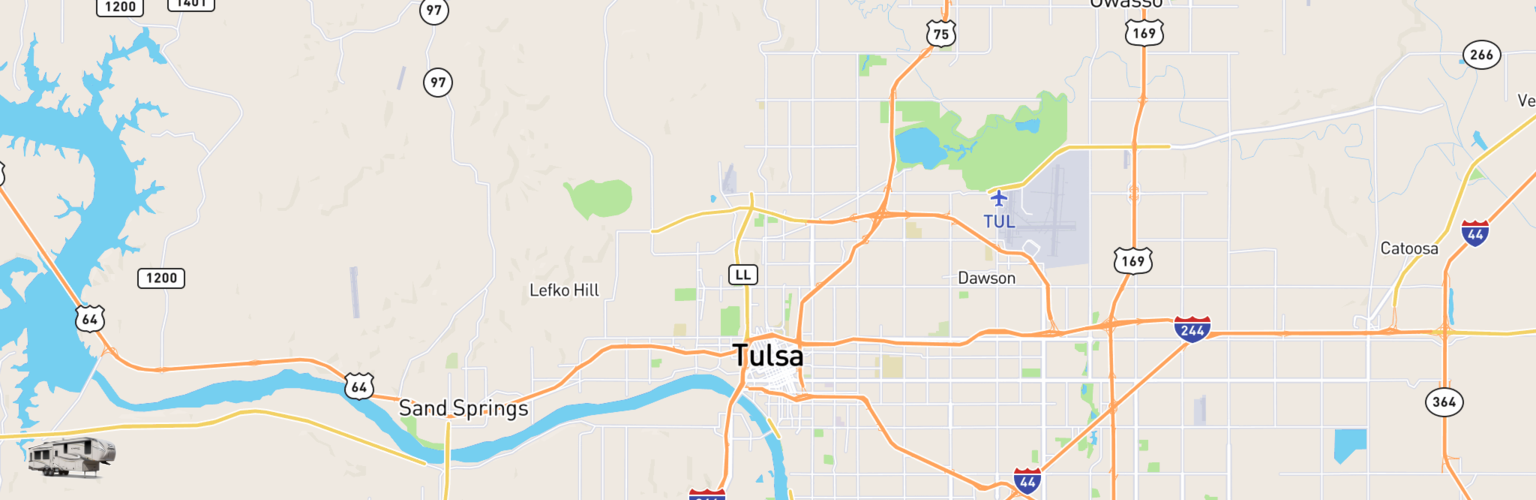Fifth Wheel Rentals Map Tulsa, OK