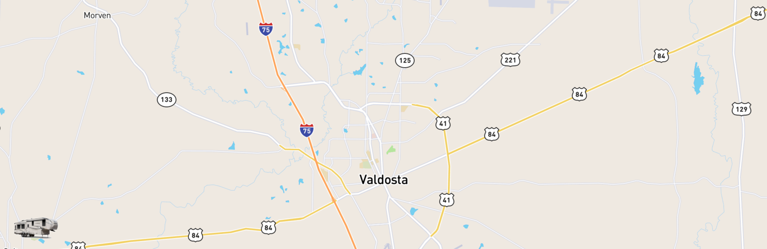 Fifth Wheel Rentals Map Valdosta, GA