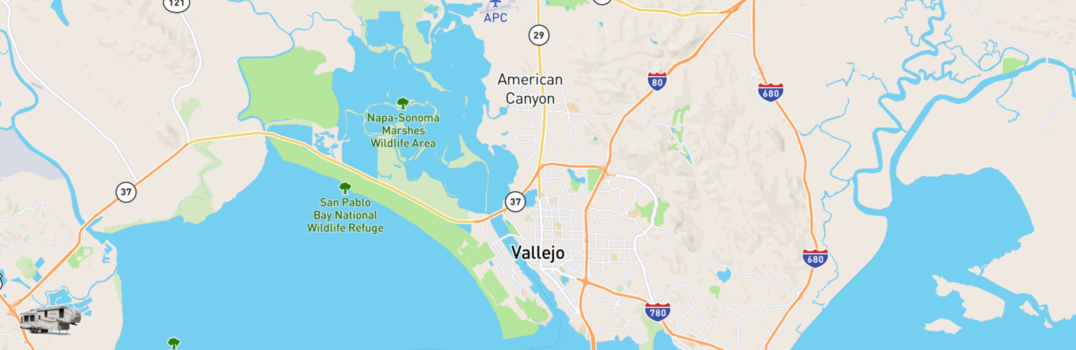 Fifth Wheel Rentals Map Vallejo, CA