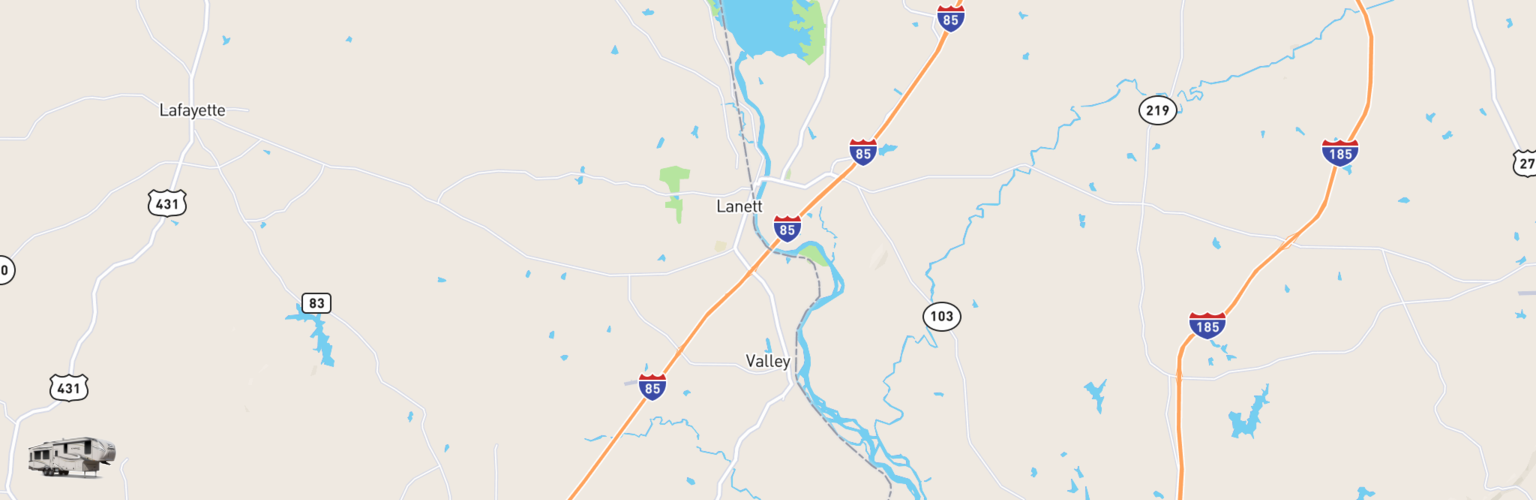 Fifth Wheel Rentals Map Valley, AL