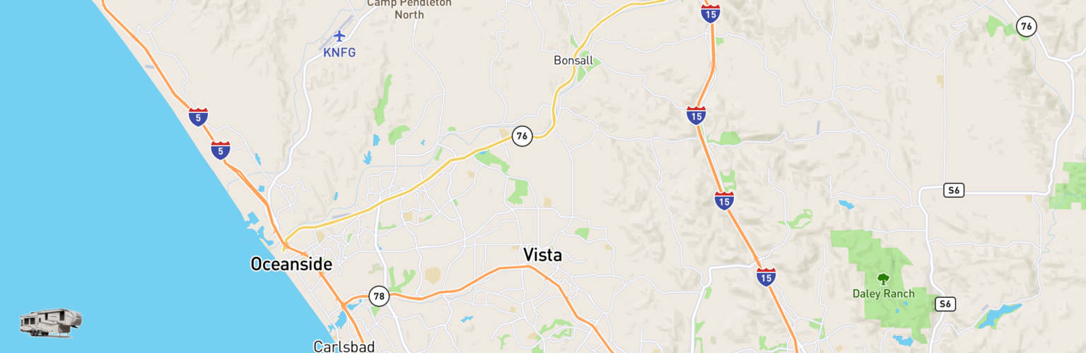 Fifth Wheel Rentals Map Vista, CA