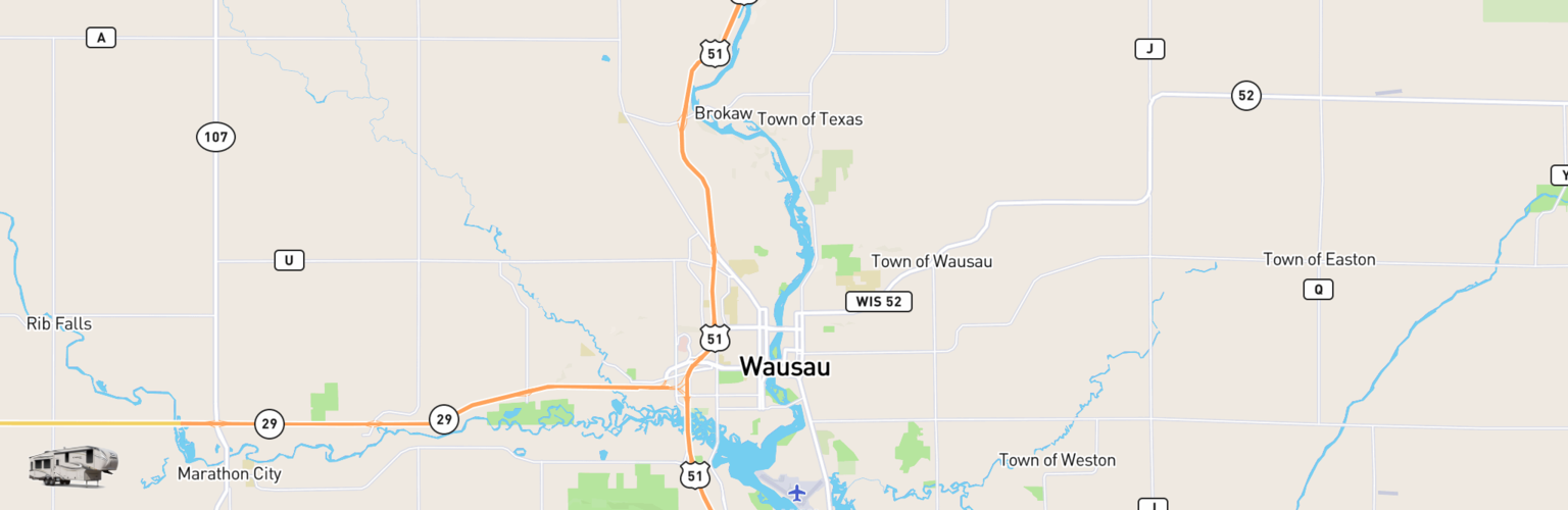 Fifth Wheel Rentals Map Wausau, WI