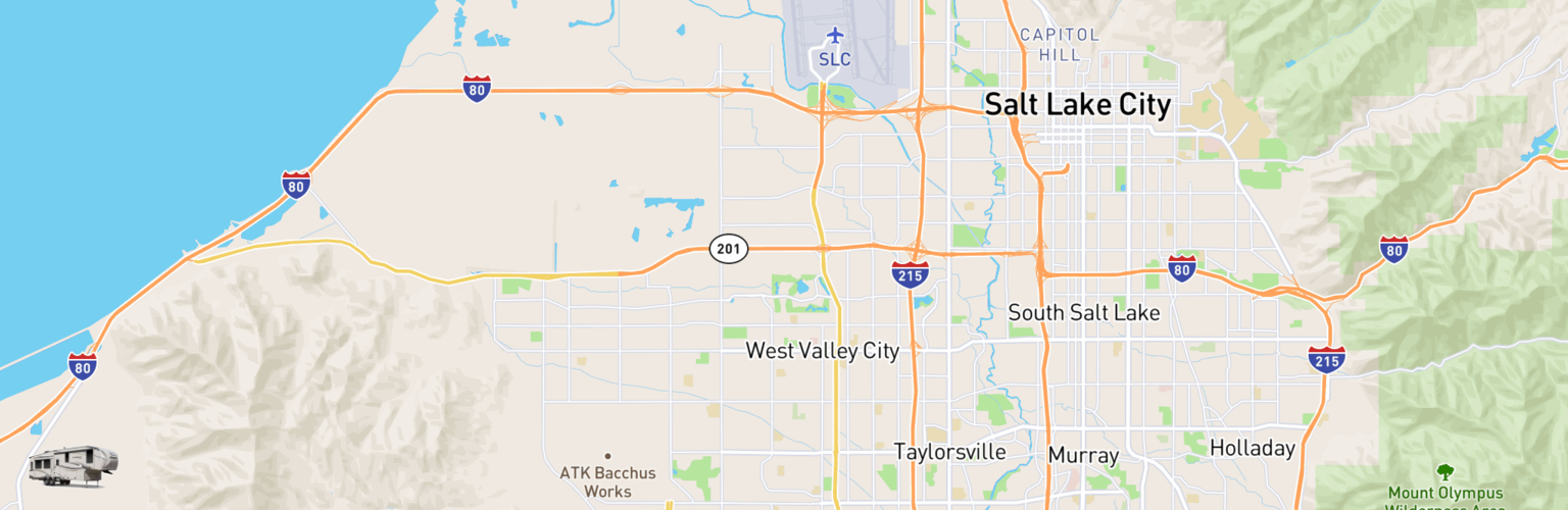 Fifth Wheel Rentals Map West Valley City, UT
