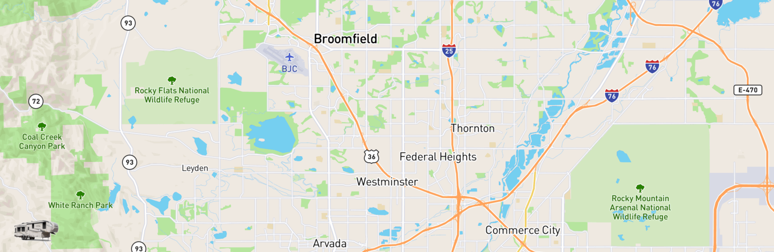 Fifth Wheel Rentals Map Westminster, CO