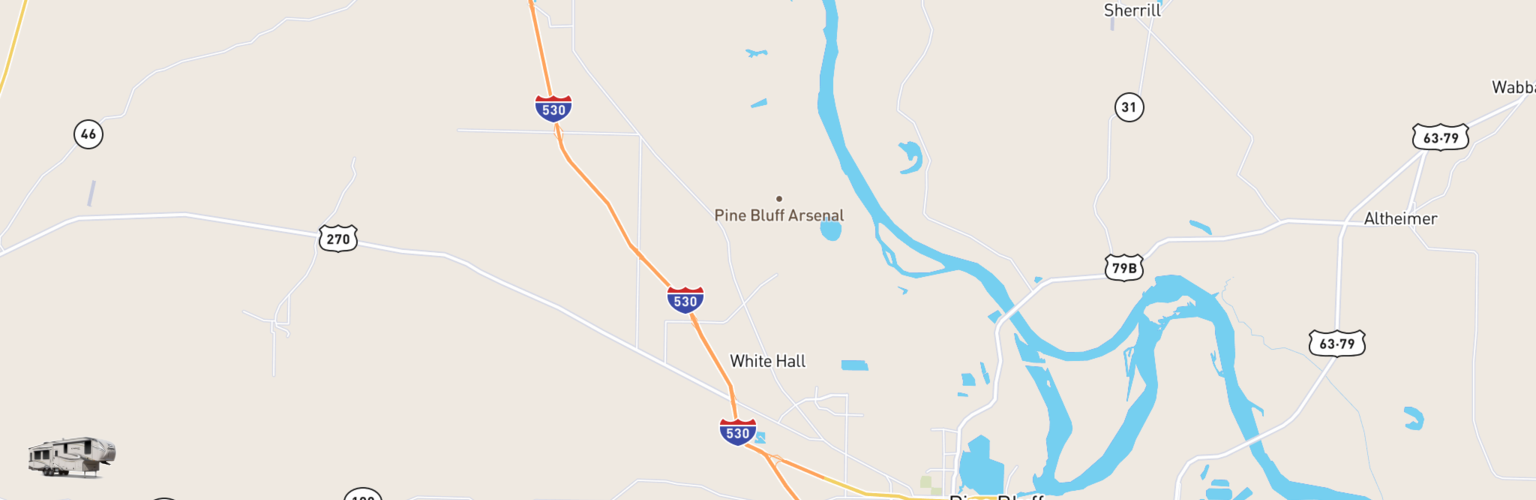 Fifth Wheel Rentals Map White Hall, AR