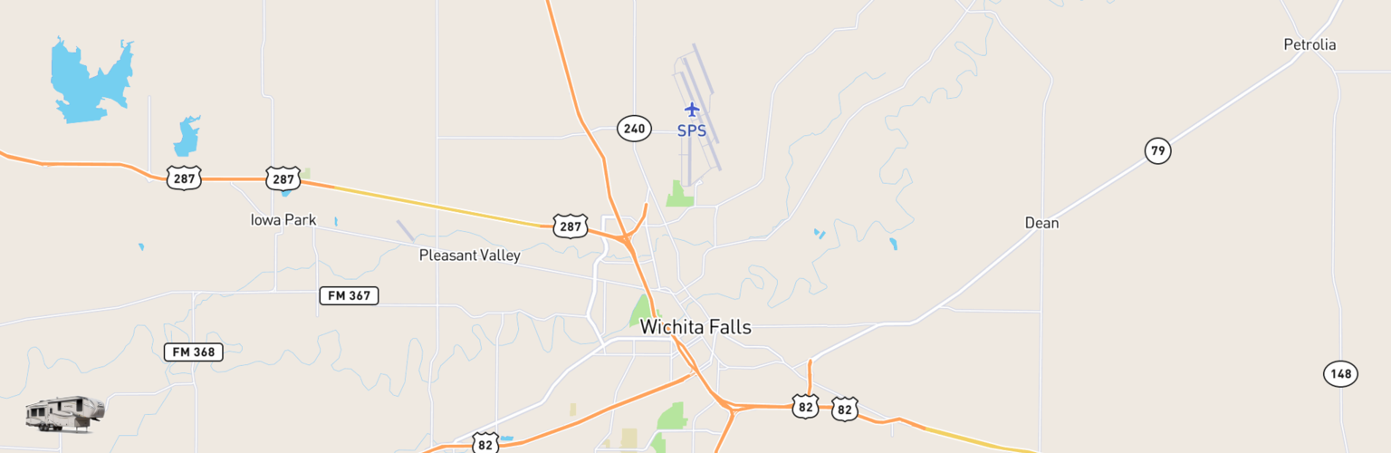 Fifth Wheel Rentals Map Wichita Falls, TX