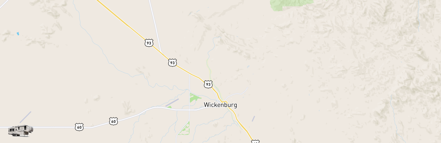 Fifth Wheel Rentals Map Wickenburg, AZ
