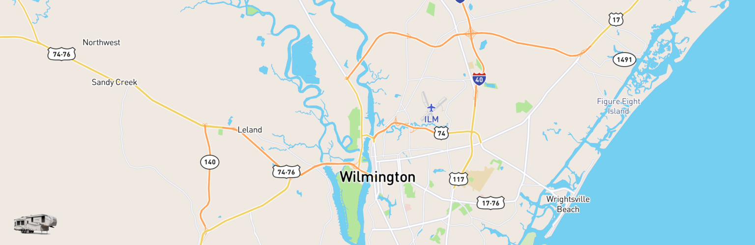 Fifth Wheel Rentals Map Wilmington, NC