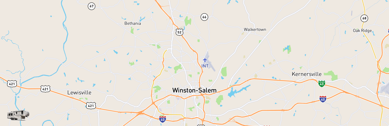 Fifth Wheel Rentals Map Winston Salem, NC