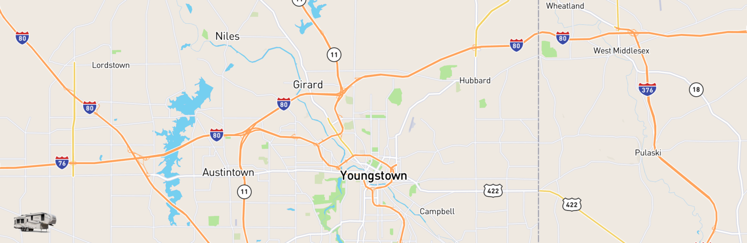 Fifth Wheel Rentals Map Youngstown, OH