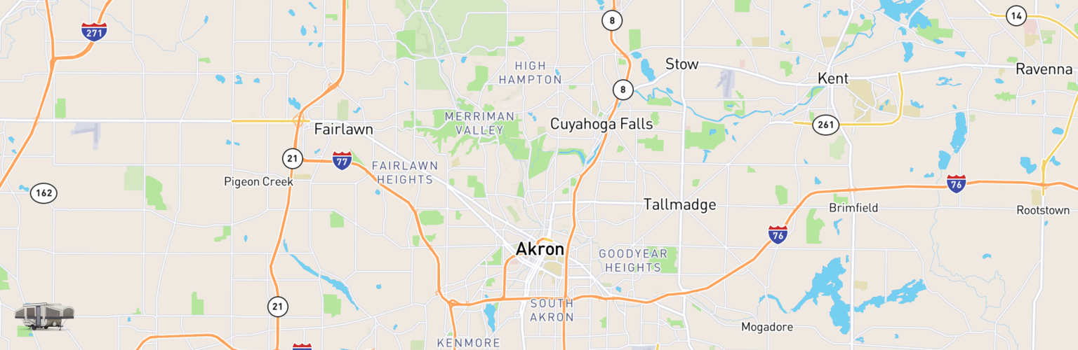 Pop Up Rentals Map Akron, OH