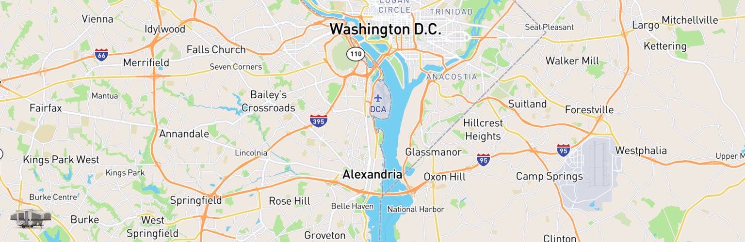 Pop Up Rentals Map Alexandria, VA