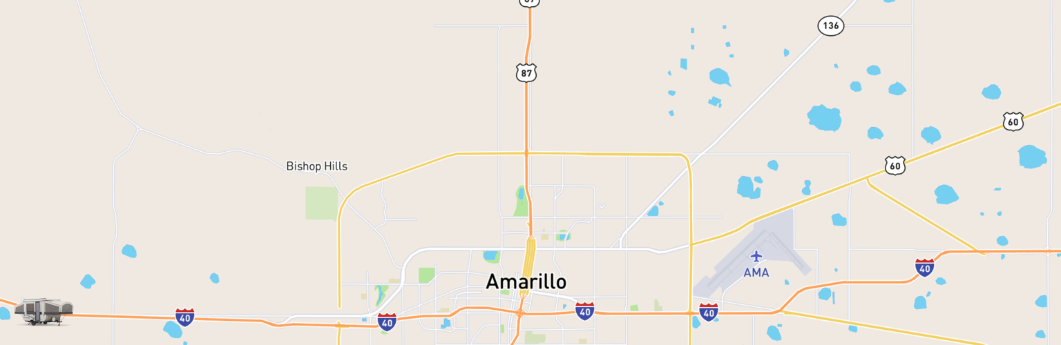 Pop Up Rental Amarillo TX Compare Rates Reviews - Map of amarillo texas