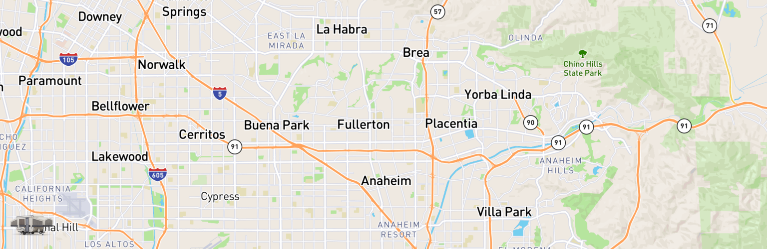 Pop Up Rentals Map Anaheim, CA