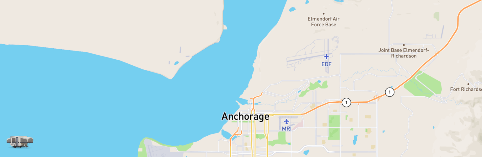 Pop Up Rentals Map Anchorage, AK