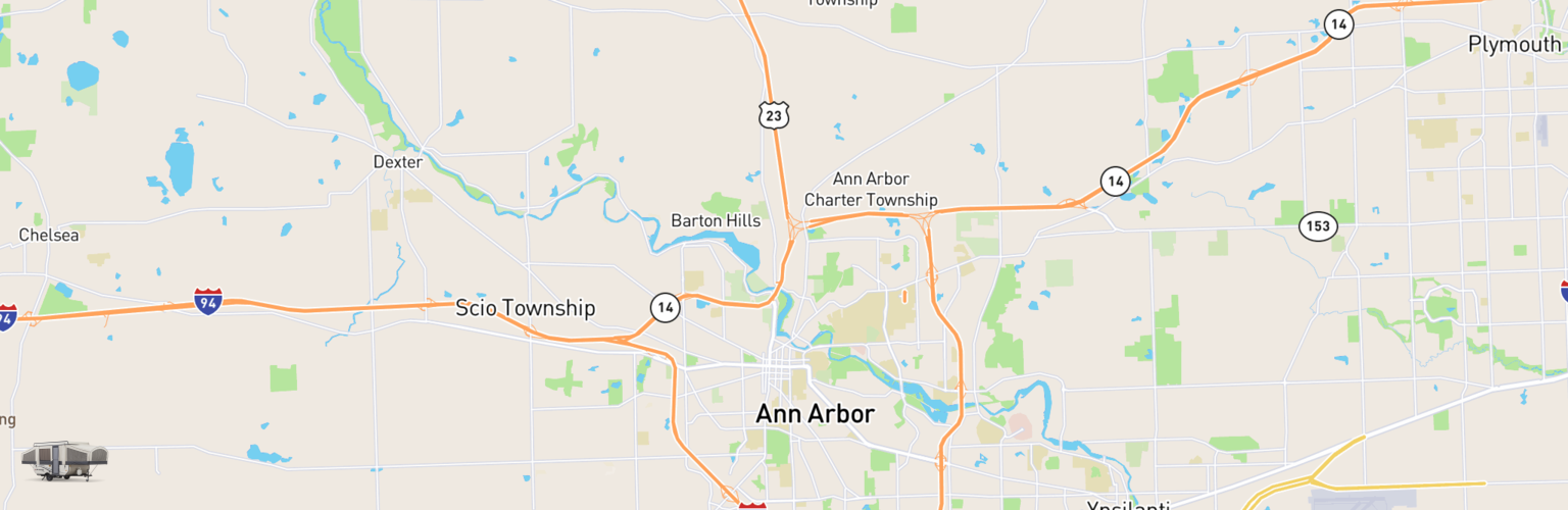 Pop Up Rentals Map Ann Arbor, MI