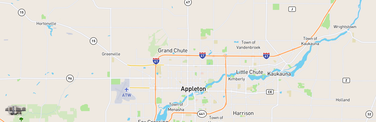 Pop Up Rentals Map Appleton, WI