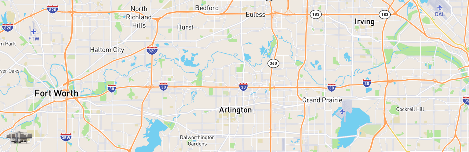 Pop Up Rentals Map Arlington, TX