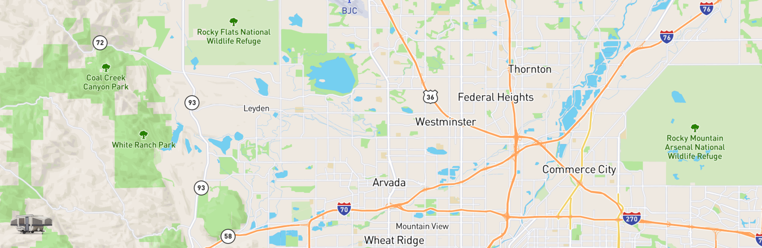 Pop Up Rentals Map Arvada, CO