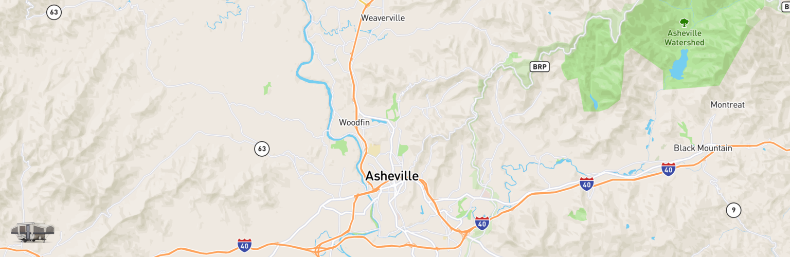 Pop Up Rentals Map Asheville, NC